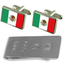 México Bandera Gemelos & James Bond dinero Clip