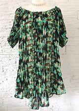 Tunika Bluse Kaftan Print Shirt Top Strand Sommer Hemd Kleid 1X L XL 42 44 NEU