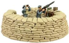 W Britain 25026 RAF Lewis Gunner Spotter Sand Bag Emplacement Soldiers LE