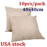 10pcs/pack Linen Sublimation Blank Pillow Case Cushion Cover for Heat Transfer