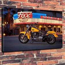"""Vintage Harley Davidson Canvas Art Picture A1.30""""x20""""~Deep 30mm Frame Motorbike"""