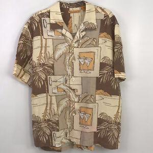 Large Mens Tropical Drink Hawaiian Tiki Aloha Resort S/S Shirt The Havanera Co.