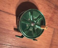 Vintage Fly Fishing Reel Green Made In Japan Fly No. 70 Fish Reel NO70