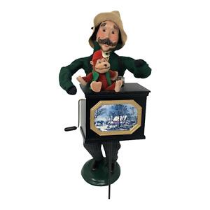 Byers Choice Carolers Music Man Organ Grinder Monkey Tin Cup Christmas 2000