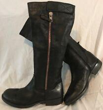 Tamaris Black Knee High Leather Beautiful Boots Size 41 (57Q)