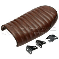 Brown Universal Seat Cafe Racer Vintage Saddle Fit For Honda CG125 Harley Bobber