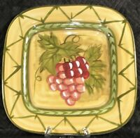 """Culinary Arts Studio Collection 9"""" Square Salad Lunch Plate - Grapes"""