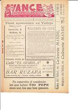 Levante V Mahon 29 de abril de 1956 quinelista valenciano Post coinciden con problema