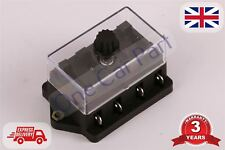 4 Way Circuit Standard / Mini Blade Fuse Box / Holder Universal With Cover New