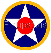 Military Star roundel Waterslide Decal for guitars, toolboxes, RC Airplanes S995