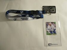 TAMPA BAY LIGHTNING LANYARD KEYCHAIN & TICKET HOLDER AND COLLECTIBLE PLAYER CARD