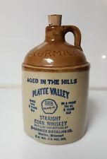 Platte Valley Corn Whisky McCormick   Crock Jug Empty