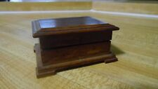 "X/RARE JULES CHARBNEAU Miniature 3"" Long Pen Wood Box SIGNED AND DATED 12/7/37"