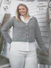 King Cole DK Ladies Girls Knitting Pattern Cardigan 4125