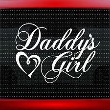 Daddy's Girl Heart Cute Pretty Funny Family Car Decal Window Sticker 20 COLORS!