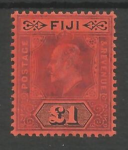 FIGI SG124 THE  1912  EVII  £1  PURPLE & BLACK RED FINE MINT CAT £300