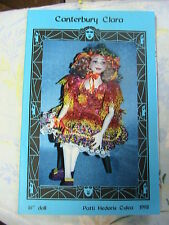 """CANTERBURY CLARA~Patti Medaris Culea 16"""" *RARE & OOP 1998 cloth art doll pattern"""