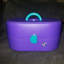 Vintage CABOODLES 3 Tier Makeup Train Case Organizer Purple