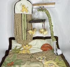 The Lion King Disney Simba Crib Nursery Bedding Blanket_Mobile_Diaper Stacker