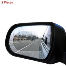 2Pcs Car Anti Fog Rainproof Rearview Mirror Rain Shield Anti-Glare Film Stickers