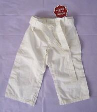 """NWT imps & elfs Baby Girls Belted White Pants Size 80cm 31"""" / US size 18 Months"""