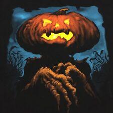 Pumpkin Black 2XL T-shirt Halloween Eerie Creepy Jack-o'-lantern Head Gourd
