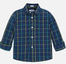 New Boys Mayoral Checked Long Sleeved Shirt, Age 2 Years , (4154)