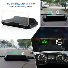 OBD2 HUD Head-Up Display+Mirror Digital Car Speed Projector Fuel Mileage Reflect