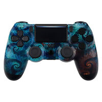Custom Spiral Patterned Faceplate Cover Upper Shell for PS4 Slim Pro Controller