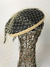 Morgan & Taylor Straw Fascinator  Race Day Hat BNWT With Veil