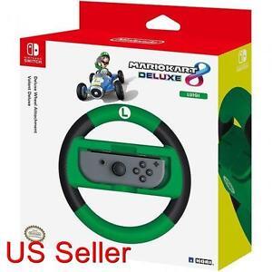 HORI Official Nintendo Switch Mario Kart 8 Deluxe Wheel Luigi Version