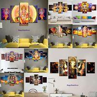Lord Ganesha Painting God Ganapati Poster Wall Art Home Decor 5 pcs canvas print