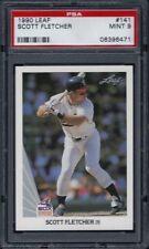 1990 Leaf #141 Scott Fletcher PSA 9 Mint Chicago White Sox