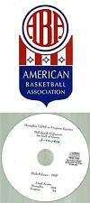Original ABA Radio Broadcast on CD - Memphis Tams vs Virginia Squires (1974)