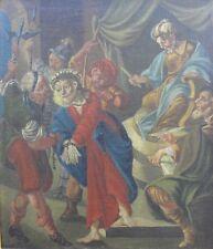 ECCE HOMO Olio su tela cm 70x60 tra XVI e XVII secolo a cavallo tra '500 e '600