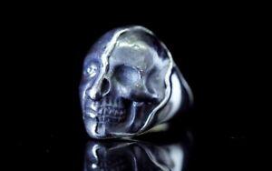 Memento Mori Ring Sterling Silber 925 Vanitas Totenkopf Freimaurer Masonic