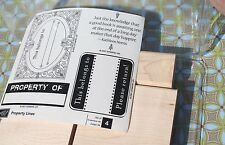 Property Lines~ Stampin Up! 2007 Belongs to Property of Set of 4 NEW