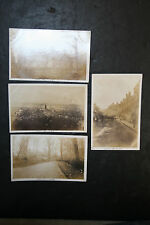 Lot of 4 Vintage Unposted Sepia Rppc Azo Kirkwall Scotland Scenic Sailors City