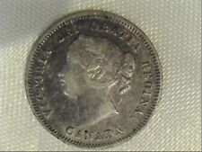 1900 Canadian Victoria Five Cent Coin Oval 0