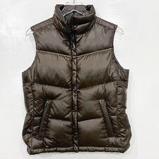 Columbia Women Size S Down Vest Puffer Brown Sleeveless Zip Front