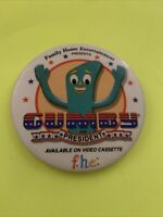 "Vintage Gumby For President VHS Promo Movie Pin Button Pinback 3"" Family Home En"