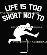 LIFE 2 SHORT TRACK & FIELD Hurdle Running Male 110 400 M Car Decal Wall Sticker