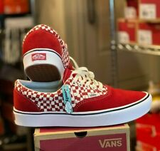 New Vans ComfyCush Era Tear Check Men's Shoes size 13 Checkers Racing Red