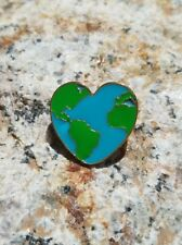World Heart Love Peace Enamel Hat Lapel Pins Free USA Shipping + Cloth Gift Bag