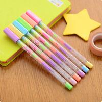 5pcs Rainbow Korean Watercolor Gel Pen Set Kandelia Stationery Office School HOT