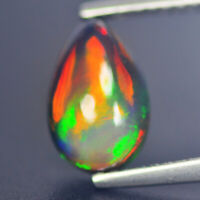 0.96 Cts Ultra Earth Museum Rarest Winsome 100% Natural Black Opal Mine Ethiopia