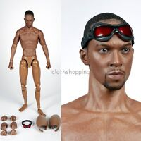 1/6 Scale Captain America Falcon 2.0 Head Sculpt Black Body Action Figure Toys