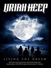URIAH HEEP - LIVING THE DREAM (CD+DVD+T-SHIRT GRÖßE L BOXSET)  2 CD+DVD NEU