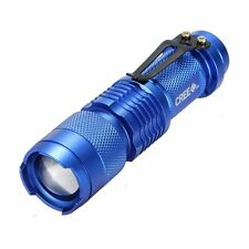 Mini 3-MODE 7W 700Lm CREE Q5 LED ZOOMABLE Zoom Flashlight Torch Light