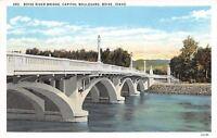 Boise Idaho~Boise River Bridge Capitol Boulevard~1920 Postcard